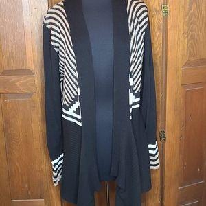 Belldini Sweater long hang blk/wht/tan XL